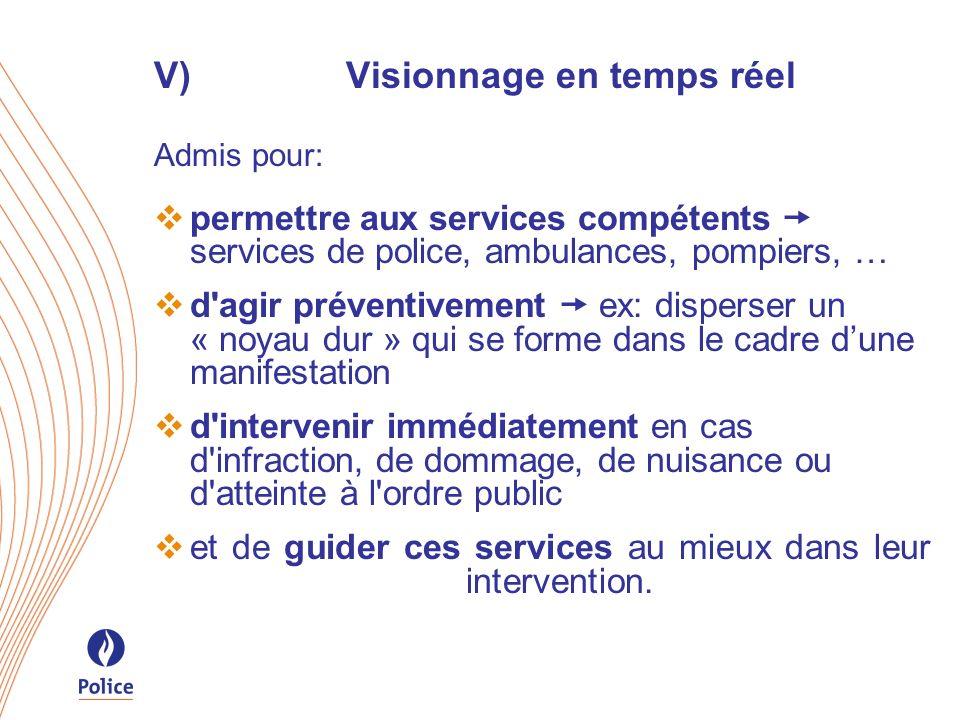 V) Visionnage en temps réel