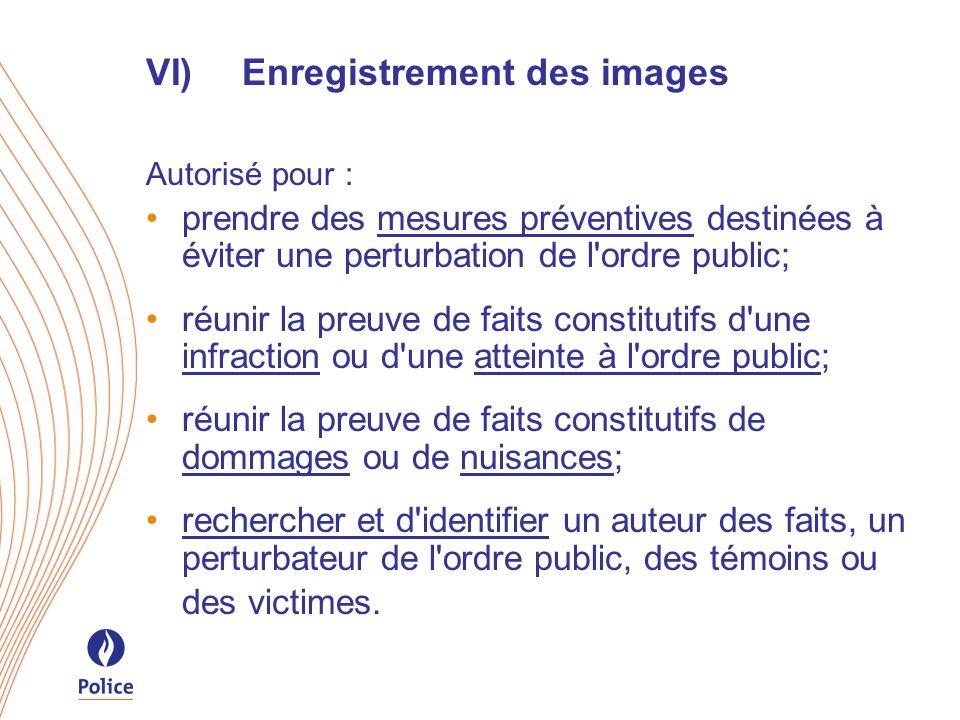 VI) Enregistrement des images