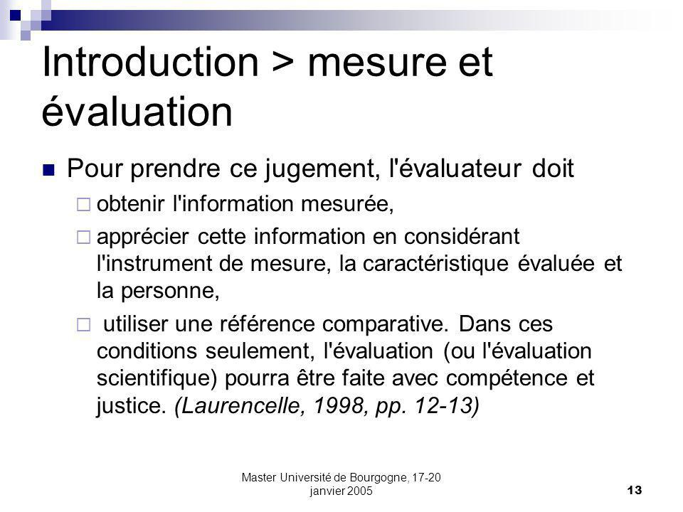Introduction > mesure et évaluation