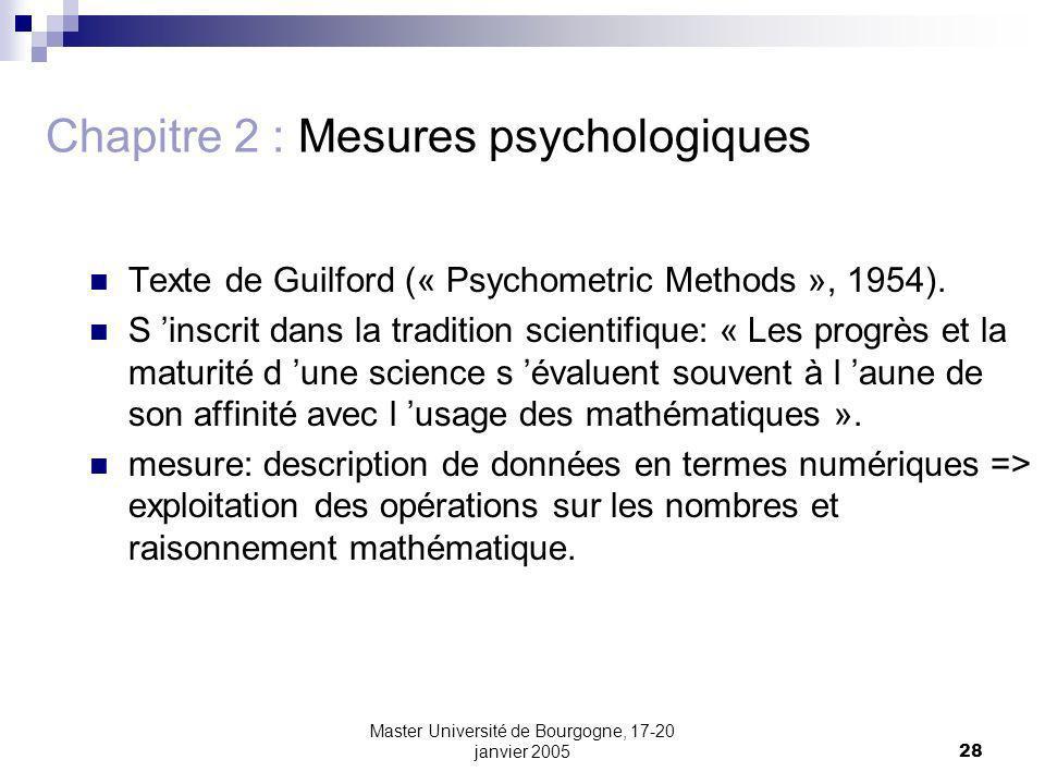 Chapitre 2 : Mesures psychologiques