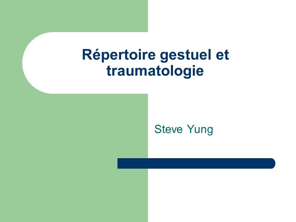 Répertoire gestuel et traumatologie