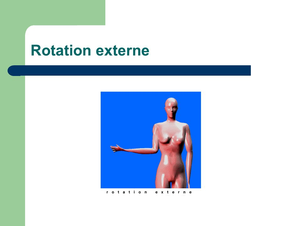 Rotation externe