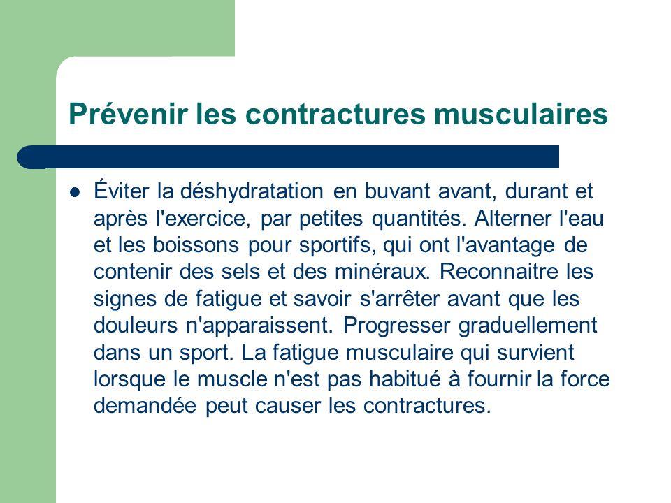 Prévenir les contractures musculaires
