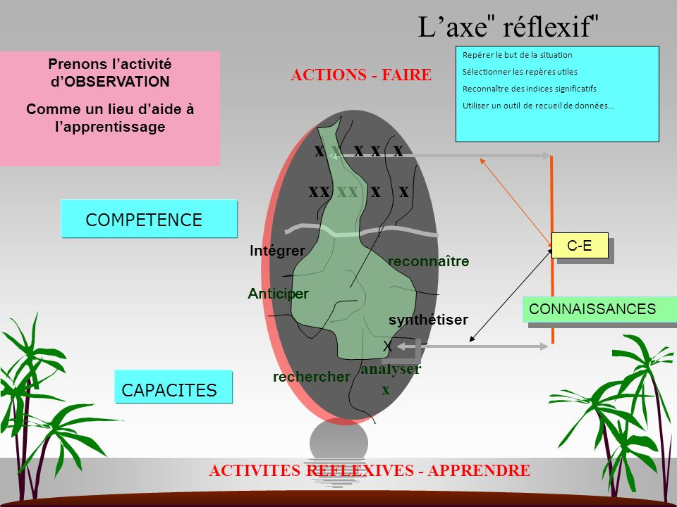 L'axe ̎ réflexif ̎ ACTIONS - FAIRE x x x x x xx xx x x