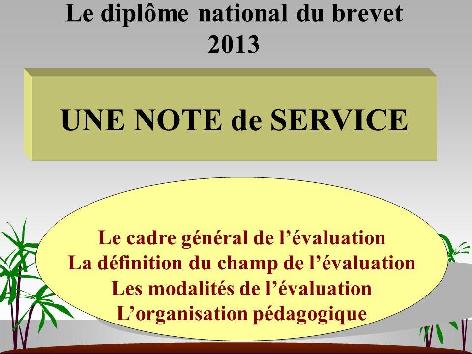 Le diplôme national du brevet 2013