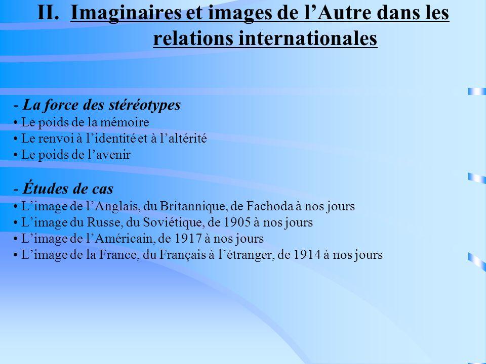 II. Imaginaires et images de l'Autre dans les relations internationales