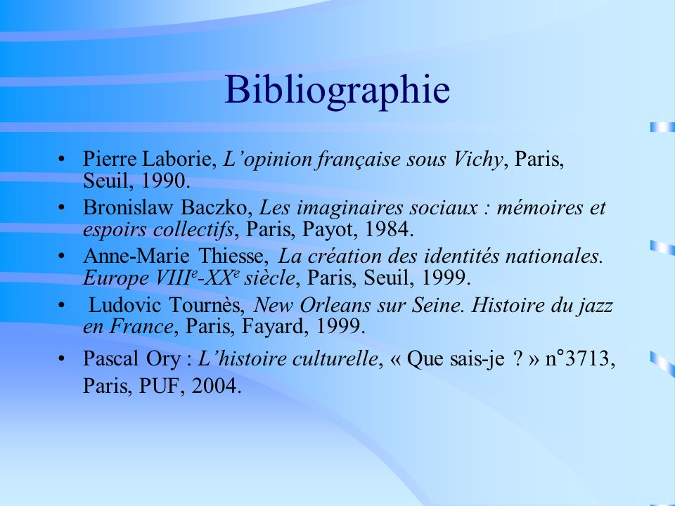 Bibliographie Pierre Laborie, L'opinion française sous Vichy, Paris, Seuil, 1990.