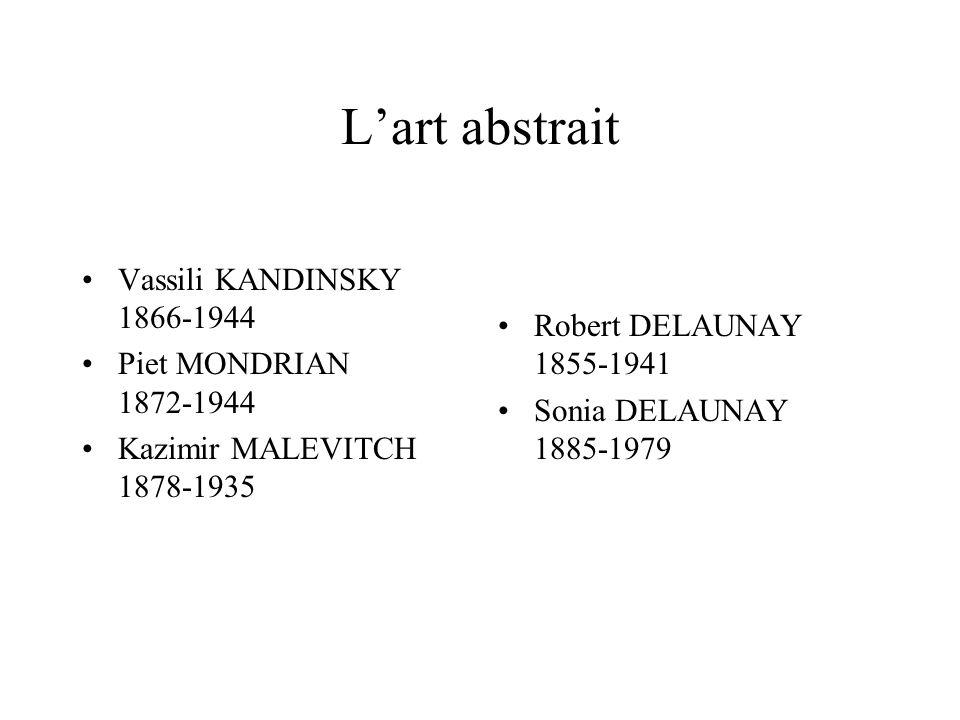 L'art abstrait Vassili KANDINSKY 1866-1944 Robert DELAUNAY 1855-1941