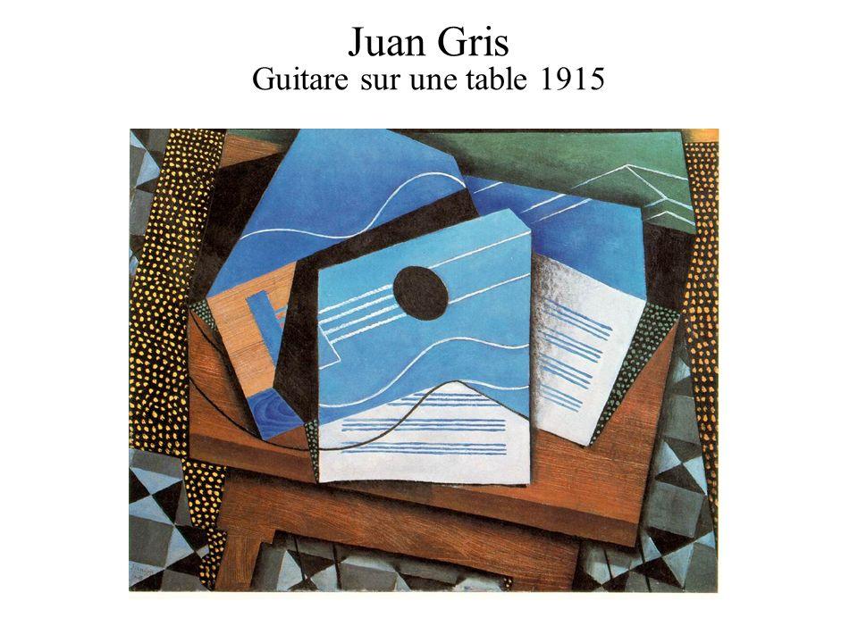 Juan Gris Guitare sur une table 1915