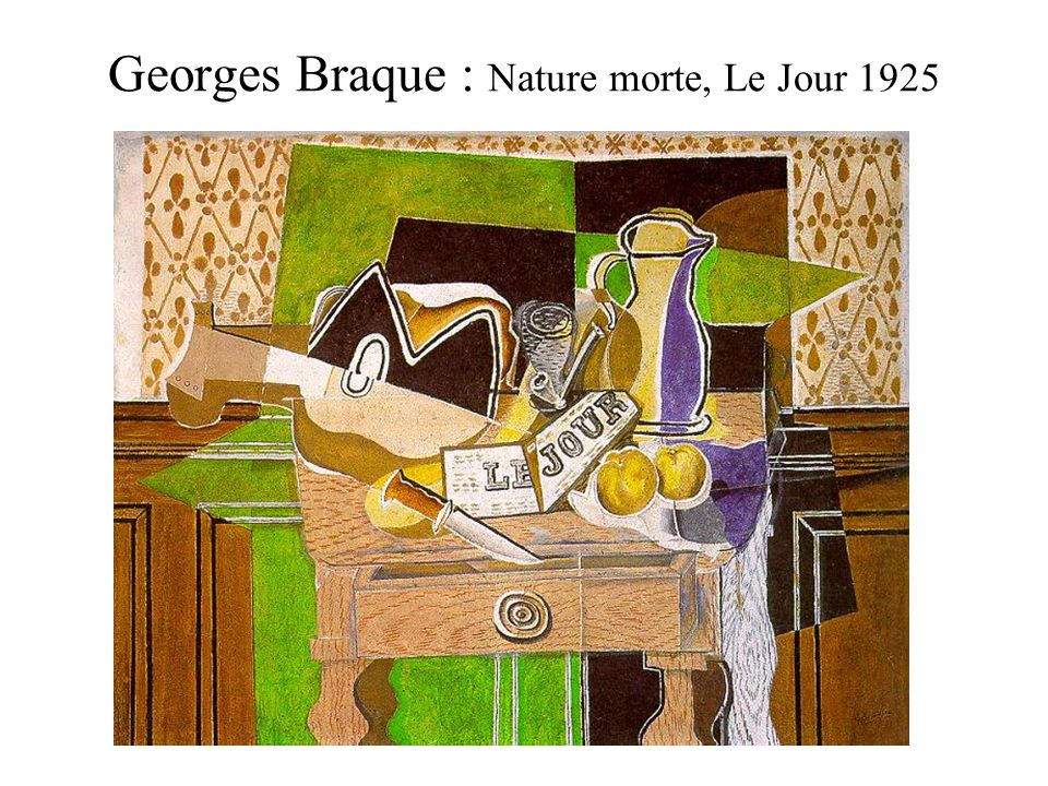 Georges Braque : Nature morte, Le Jour 1925