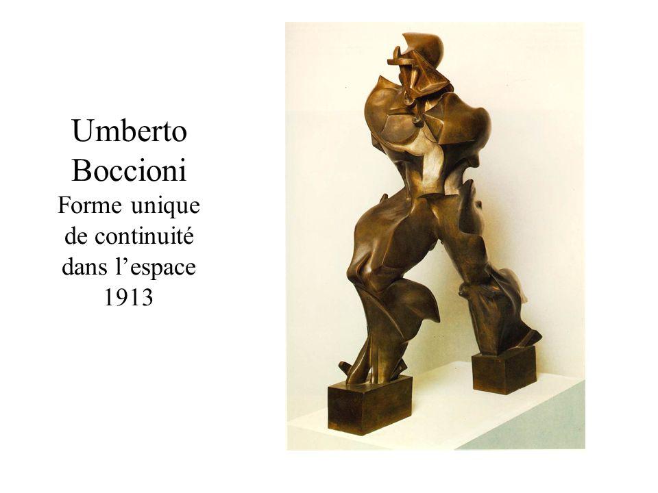 Umberto Boccioni Forme unique de continuité dans l'espace 1913