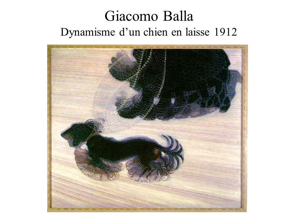 Giacomo Balla Dynamisme d'un chien en laisse 1912
