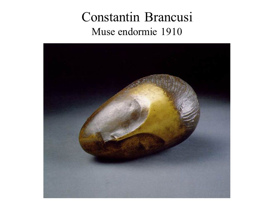 Constantin Brancusi Muse endormie 1910