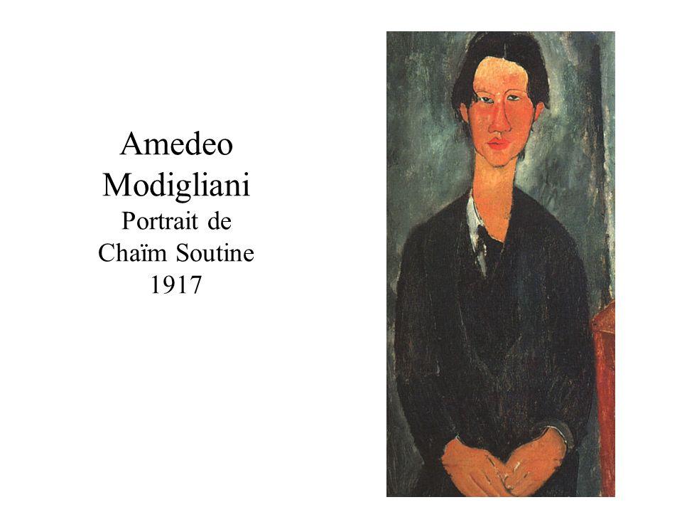 Amedeo Modigliani Portrait de Chaïm Soutine 1917