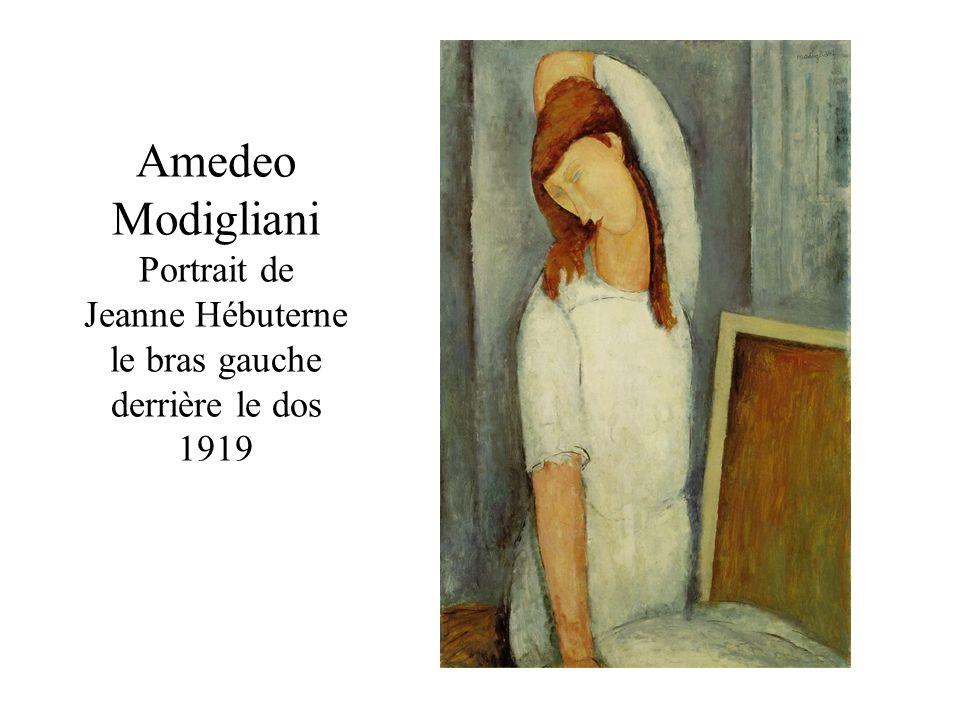 Amedeo Modigliani Portrait de Jeanne Hébuterne le bras gauche derrière le dos 1919
