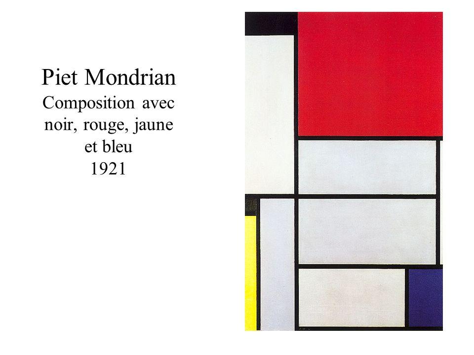 Piet Mondrian Composition avec noir, rouge, jaune et bleu 1921
