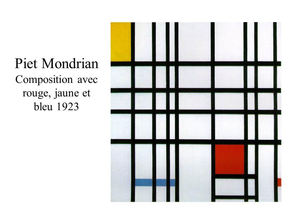 Piet Mondrian Composition avec rouge, jaune et bleu 1923