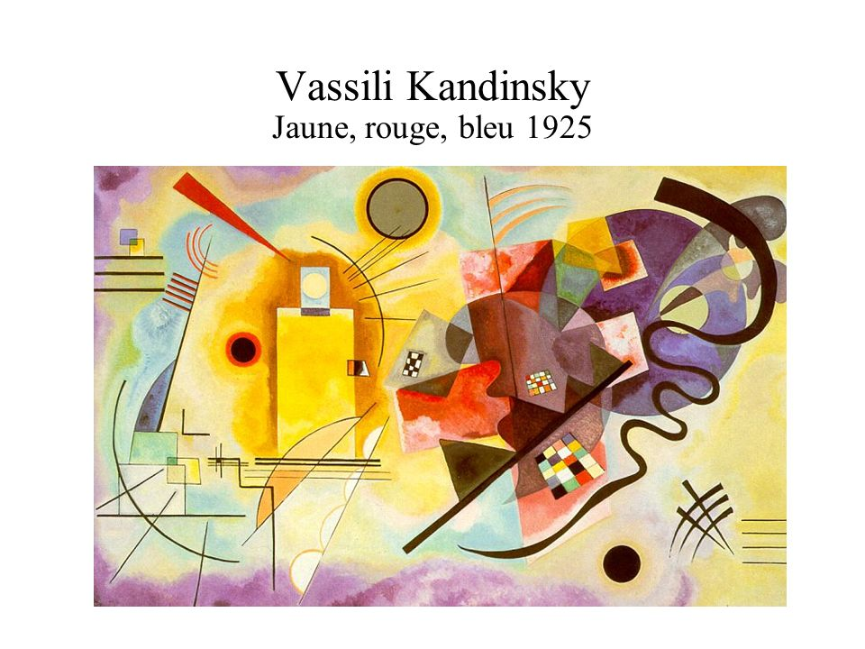 Vassili Kandinsky Jaune, rouge, bleu 1925