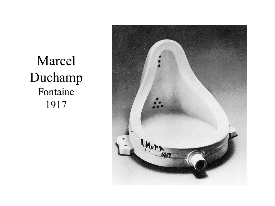 Marcel Duchamp Fontaine 1917
