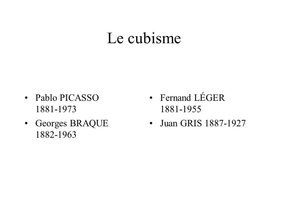 Le cubisme Pablo PICASSO 1881-1973 Georges BRAQUE 1882-1963