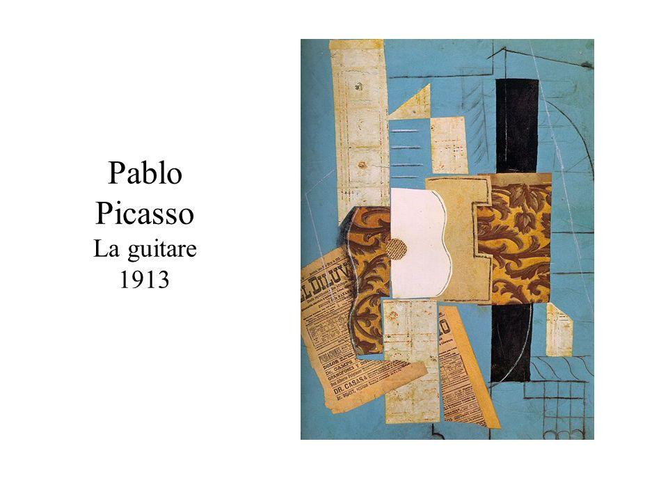 Pablo Picasso La guitare 1913