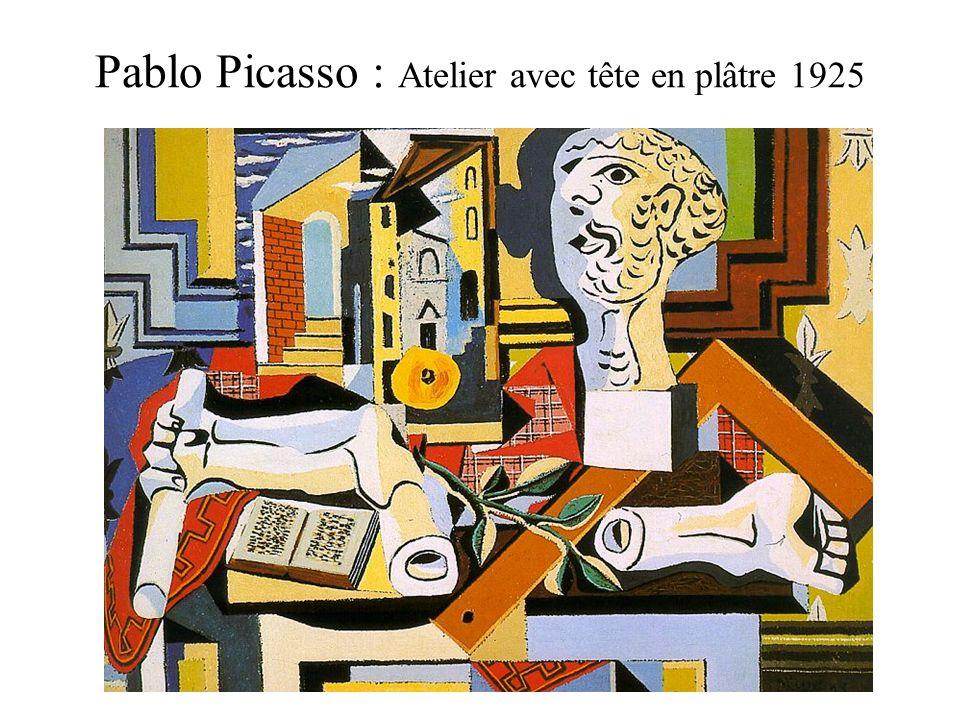 Pablo Picasso : Atelier avec tête en plâtre 1925