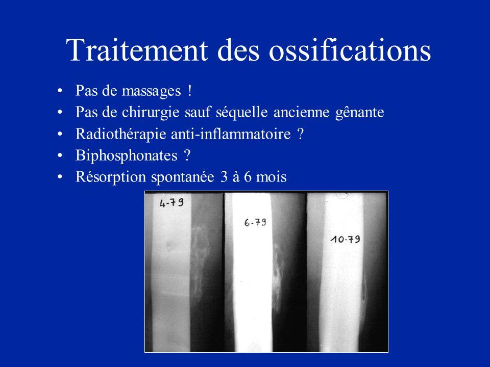 Traitement des ossifications