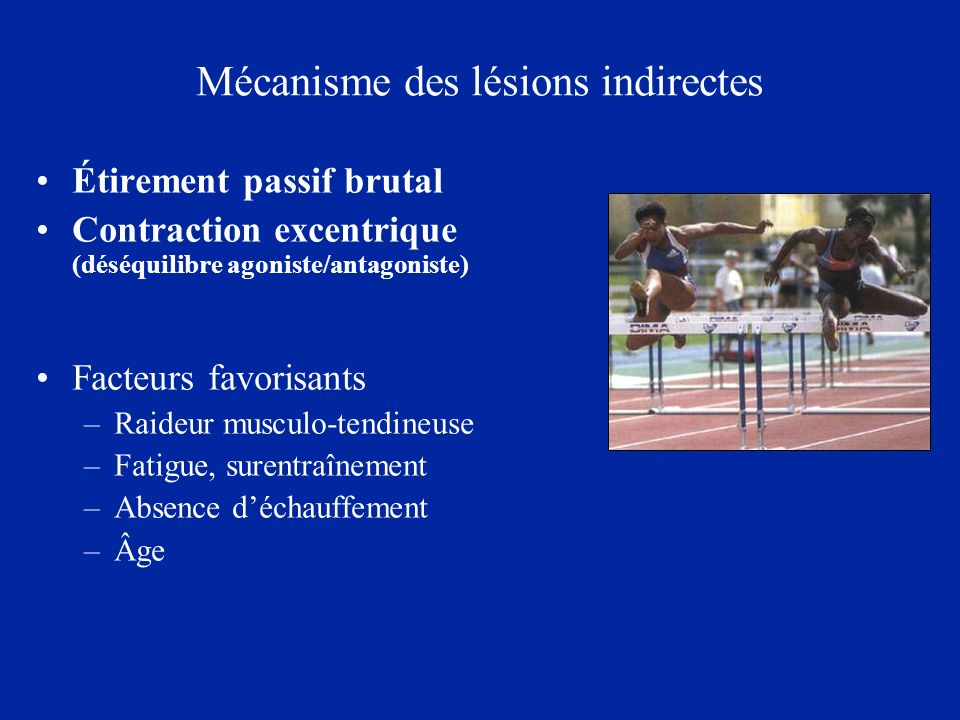 Mécanisme des lésions indirectes