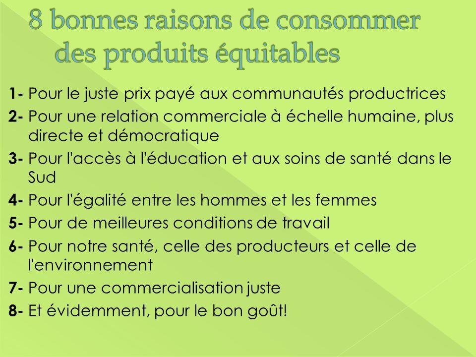 8 bonnes raisons de consommer des produits équitables
