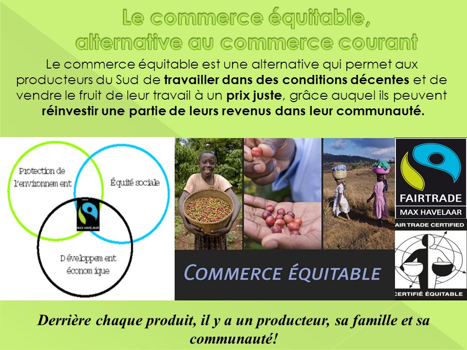 Le commerce équitable, alternative au commerce courant