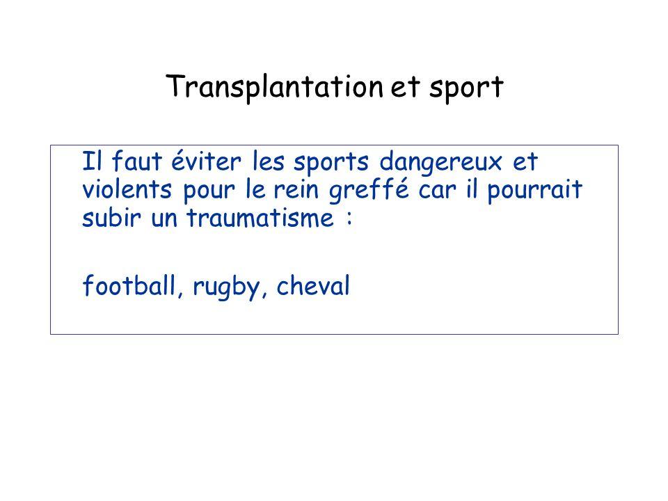 Transplantation et sport