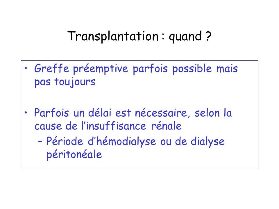 Transplantation : quand