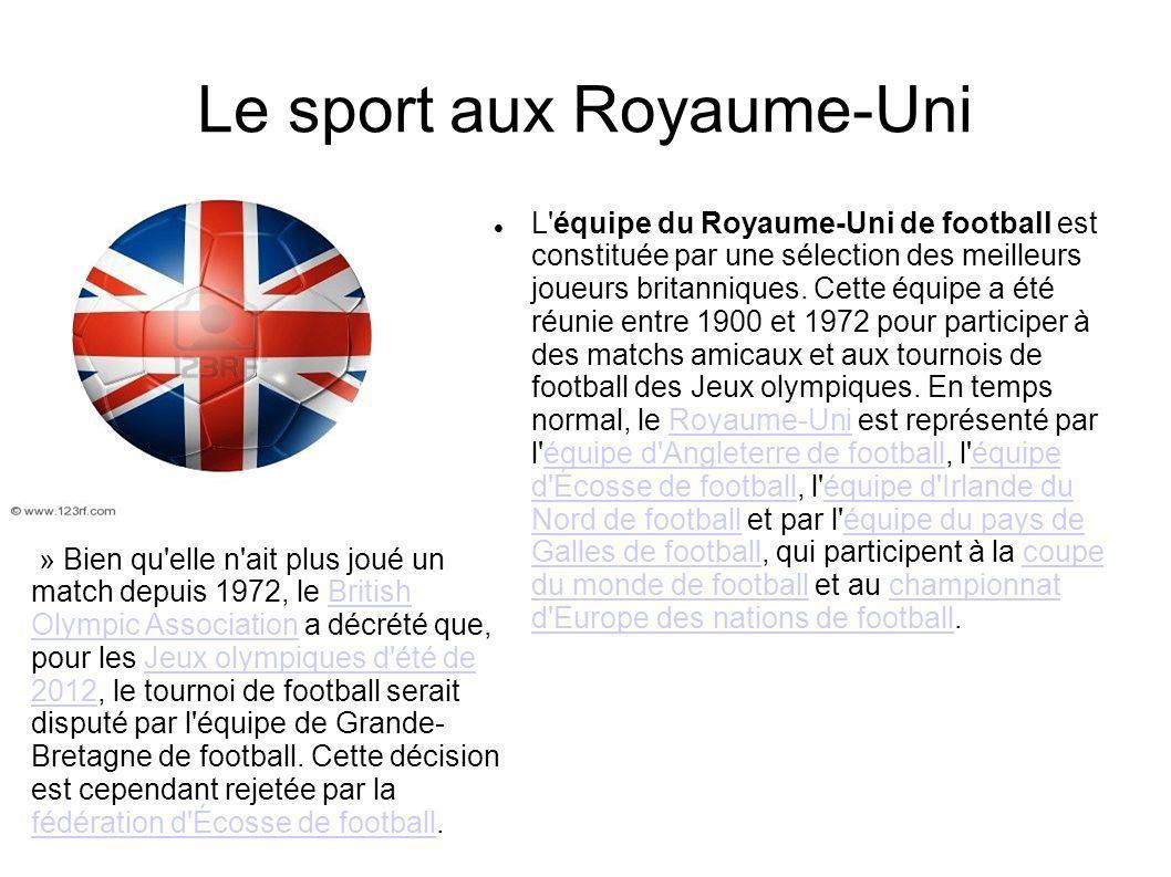 Le sport aux Royaume-Uni