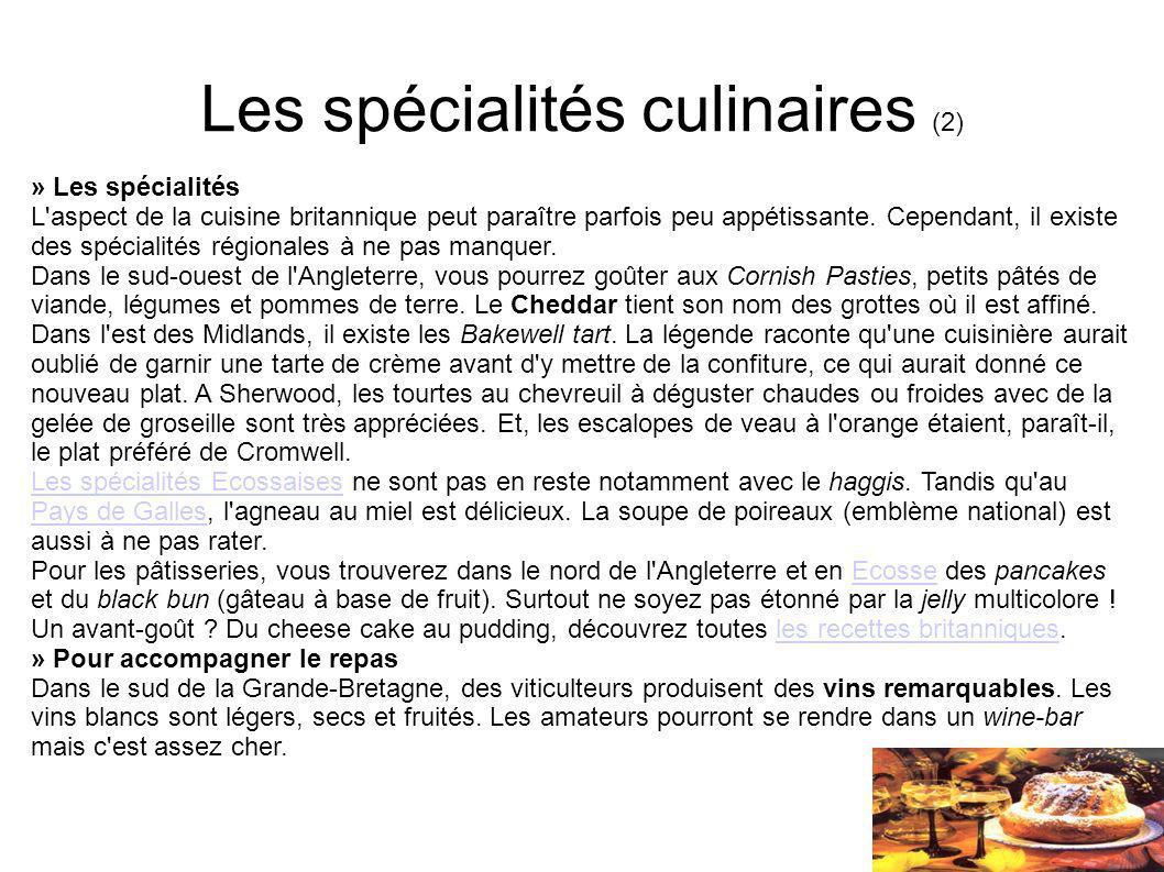Les spécialités culinaires (2)
