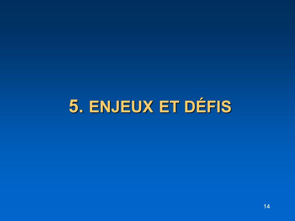 5. ENJEUX ET DÉFIS
