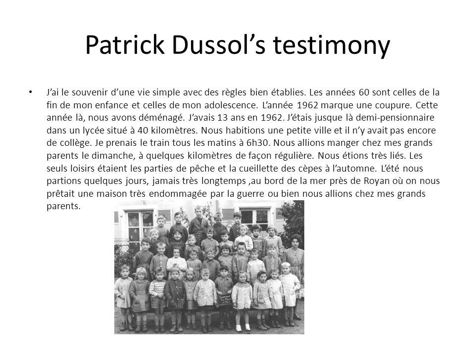 Patrick Dussol's testimony