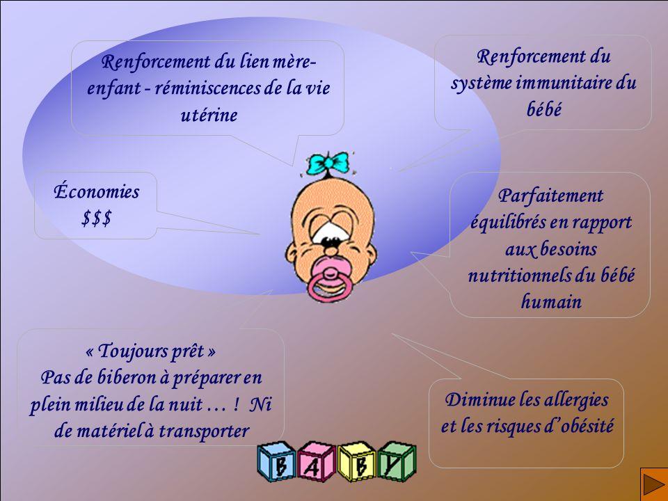 Renforcement du système immunitaire du bébé