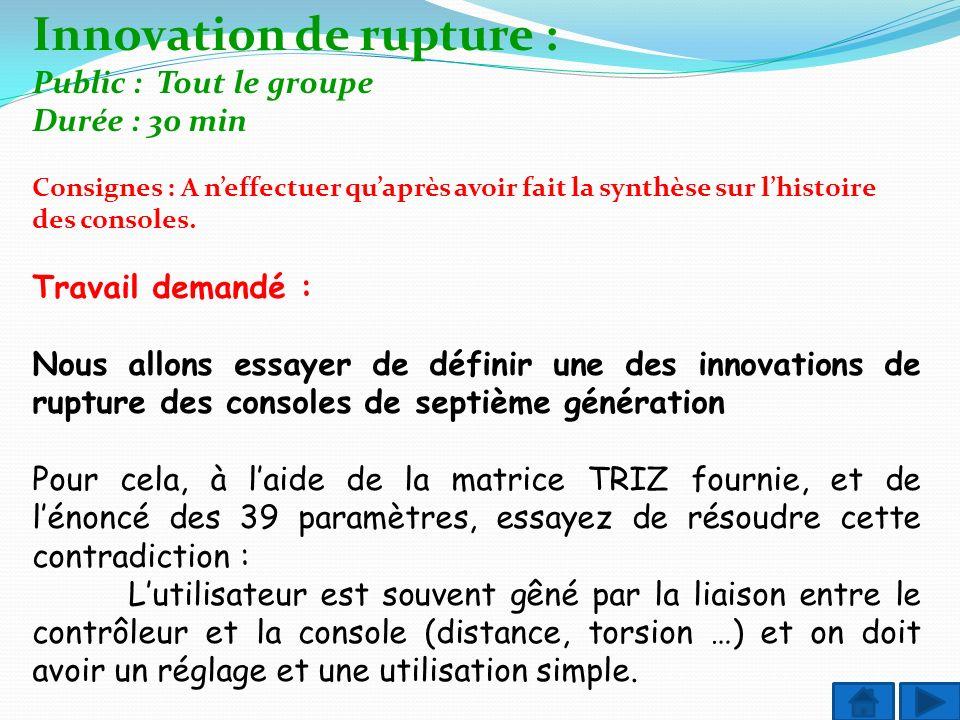 Innovation de rupture :