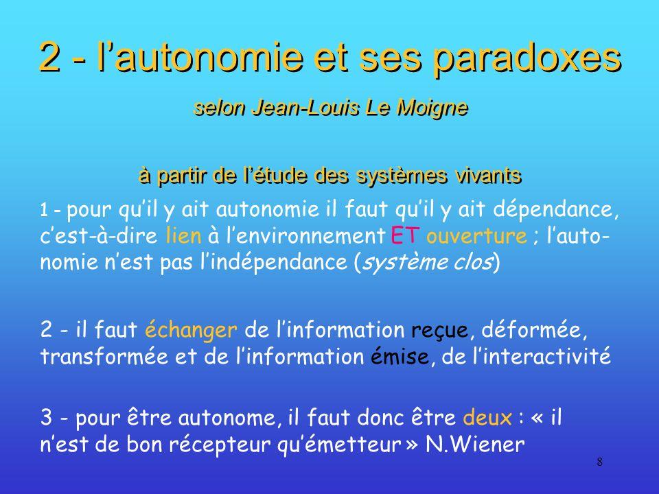 2 - l'autonomie et ses paradoxes