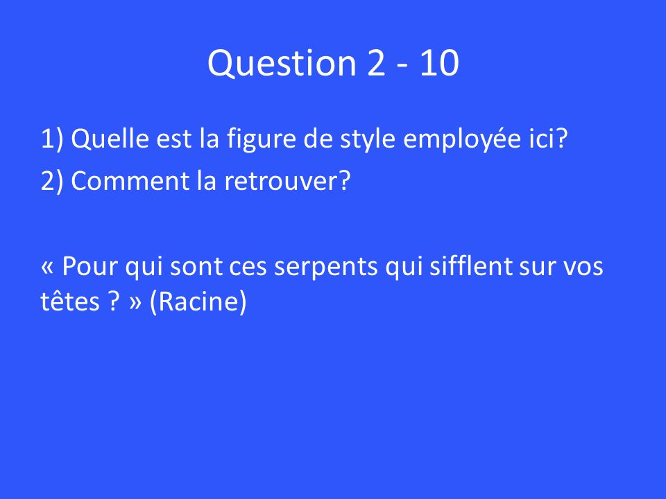 Question 2 - 10