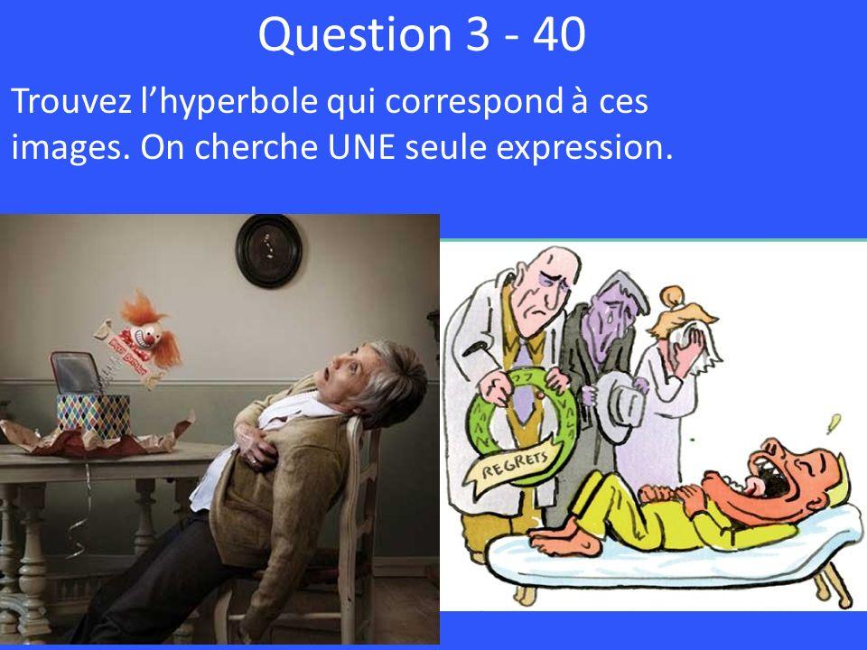 Question 3 - 40 Trouvez l'hyperbole qui correspond à ces images. On cherche UNE seule expression.