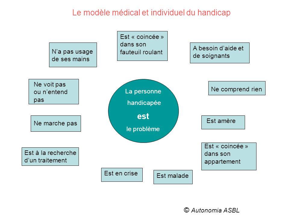 Le modèle médical et individuel du handicap