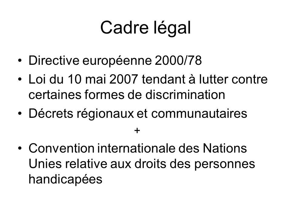 Cadre légal Directive européenne 2000/78