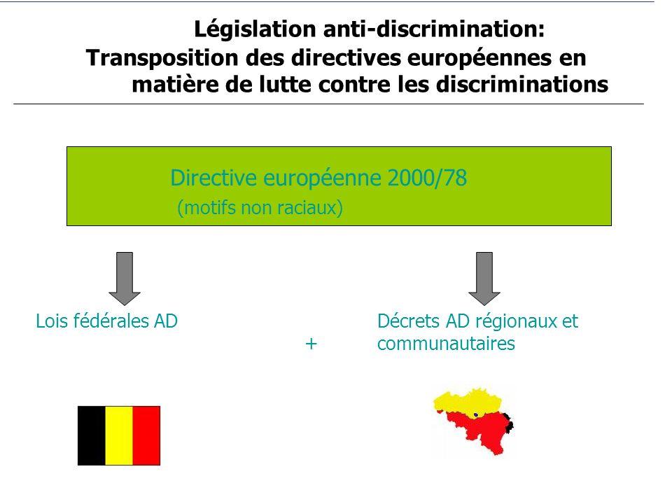 Législation anti-discrimination: Transposition des directives européennes en matière de lutte contre les discriminations
