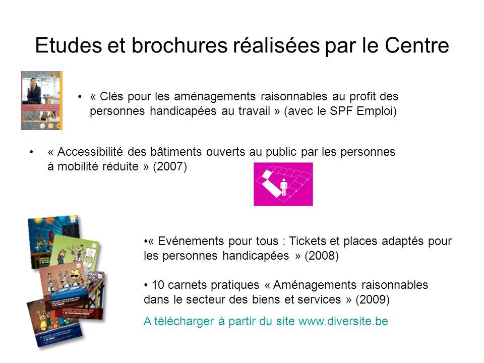 Etudes et brochures réalisées par le Centre
