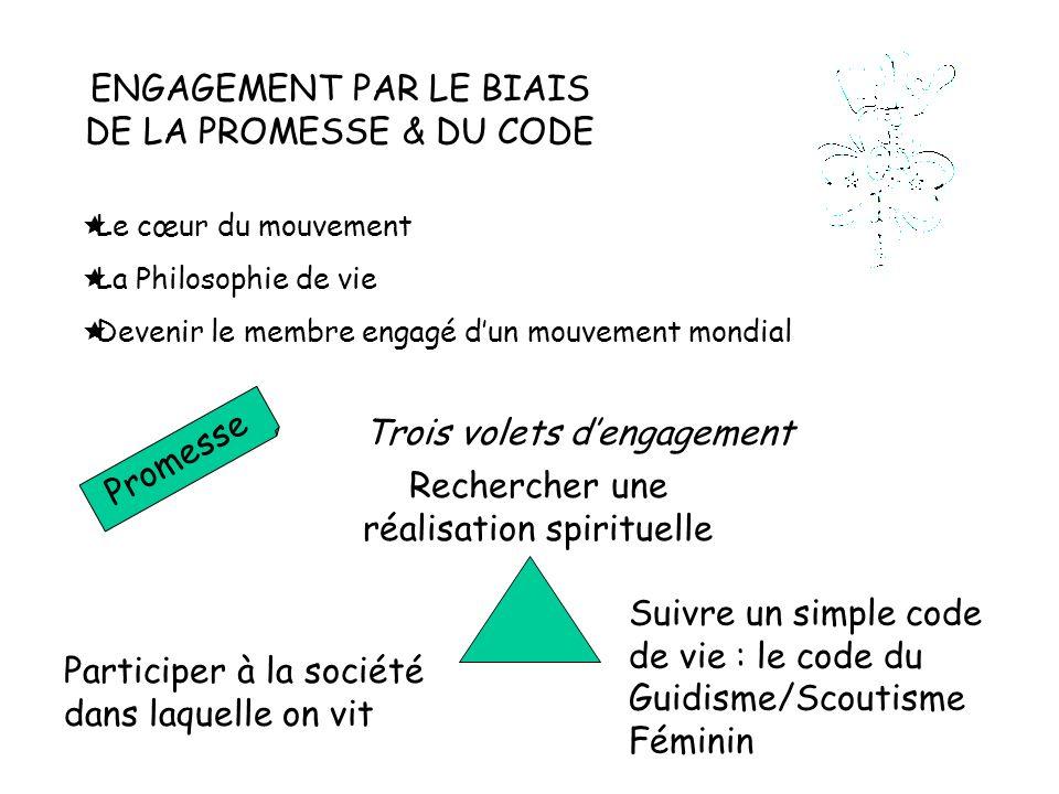 ENGAGEMENT PAR LE BIAIS DE LA PROMESSE & DU CODE