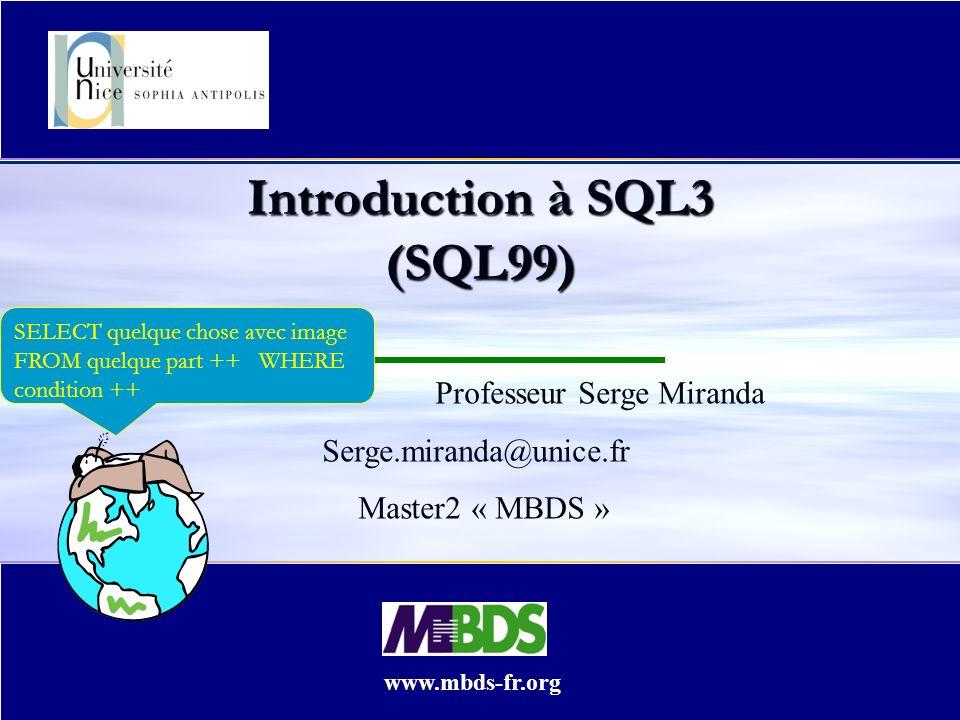 Introduction à SQL3 (SQL99)