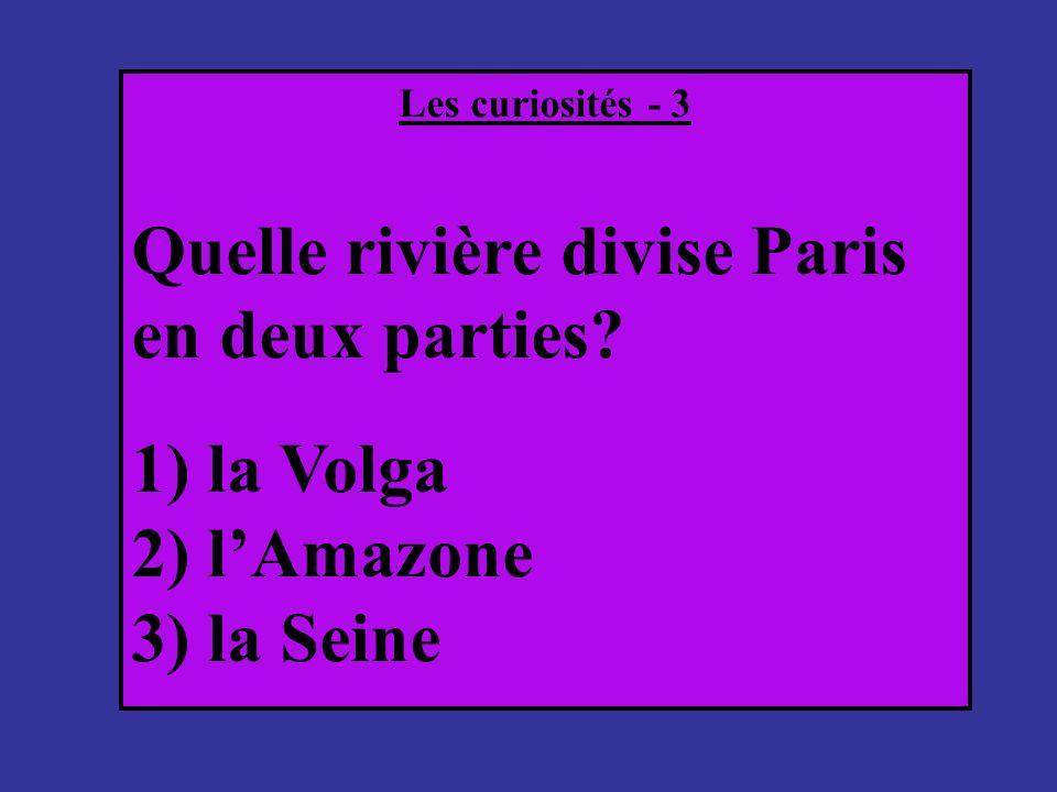 Quelle rivière divise Paris en deux parties