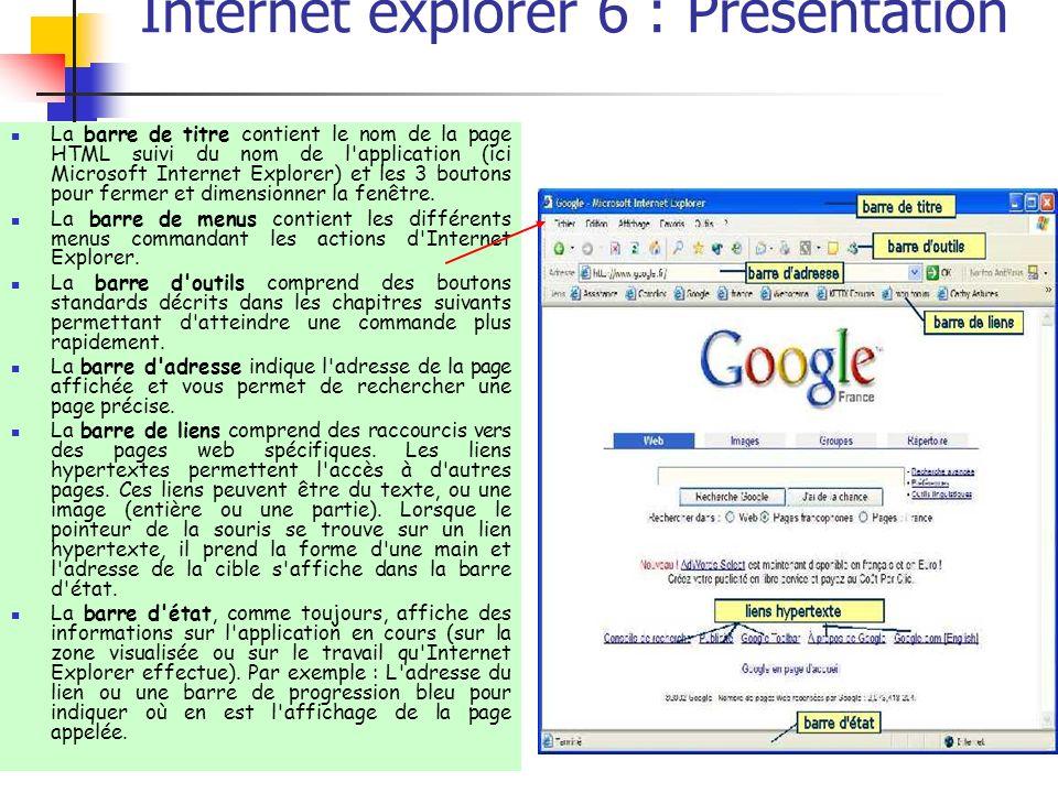 Internet explorer 6 : Présentation