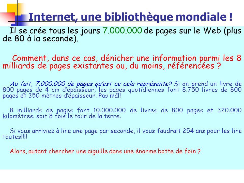 Internet, une bibliothèque mondiale !